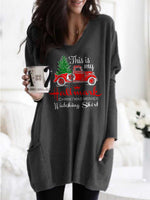 Load image into Gallery viewer, Women's This Is My Hallmark Christmas Movies Watching Shirt Printed Pocket Top