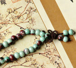 Load image into Gallery viewer, Retro style unisex ceramic jewelry bead bracelet three circles