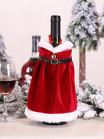 Load image into Gallery viewer, Christmas Red Christmas Suit Wine Bottle Decoration Set