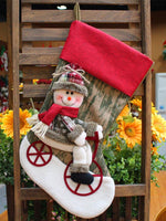 Load image into Gallery viewer, Christmas Santa Snowman Christmas Stocking Gift Bag