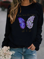 Load image into Gallery viewer, Ladies butterfly print sweatshirt