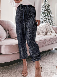 Holiday Party Sequin Pants Glitter Outfits