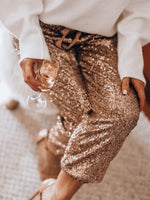 Load image into Gallery viewer, Holiday Party Sequin Pants Glitter Outfits