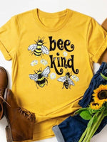 Load image into Gallery viewer, Women's BEE KIND bee graphic print T-shirt