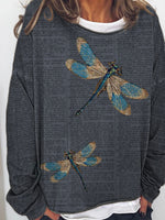 Load image into Gallery viewer, Ladies dragonfly print patchwork top