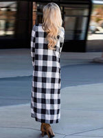 Load image into Gallery viewer, Women's Fashion Plaid Long Sleeve Cardigan