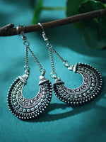 Load image into Gallery viewer, Women's Retro Ethnic Fan Shaped Threaded Long Earrings