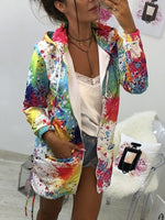 Load image into Gallery viewer, Women's casual printed mid-length coat