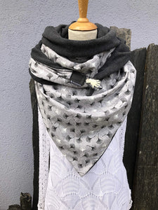 Simple Printed Unisex Thick Triangle Scarf
