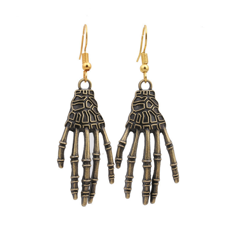 Halloween skull palm earrings