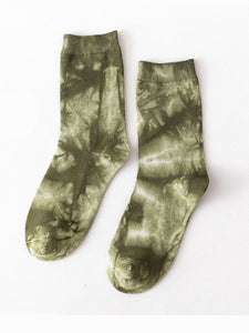 Women's vintage tie-dye in stockings