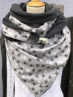 Load image into Gallery viewer, Simple Printed Unisex Thick Triangle Scarf