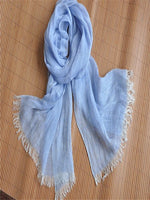 Load image into Gallery viewer, Women's solid color linen scarf & sun protection shawl