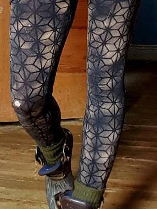 Ladies Vintage Geometric Stretch Leggings