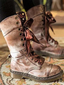 Women's Rivet vintage Thick With Martin boots