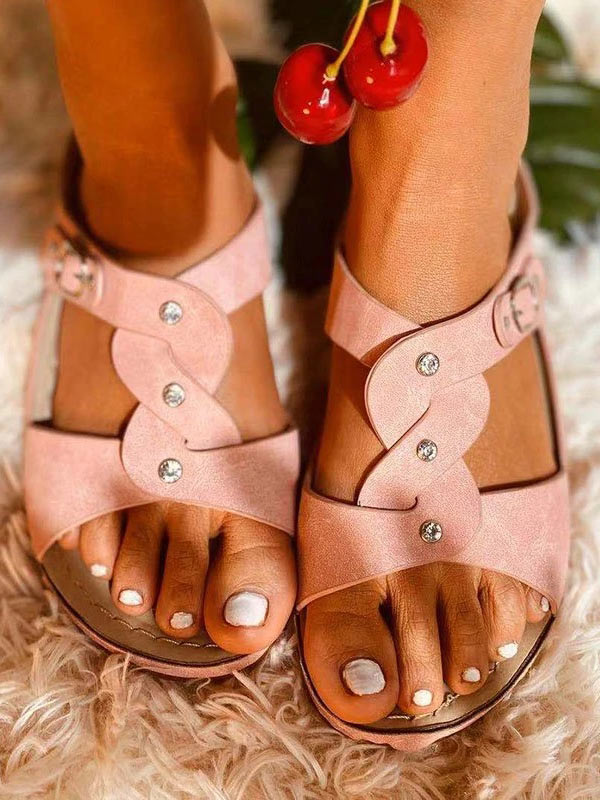 Women's Fashion Non-slip Cross Strap Platform Sandals