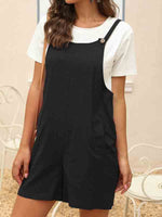 Load image into Gallery viewer, Cotton and linen loose overalls jumpsuit shorts