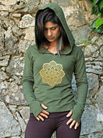 Load image into Gallery viewer, Women's Vintage Mandala Print Hoodie