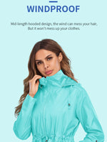 Load image into Gallery viewer, Waterproof Waistcoat Hooded Breathable Mesh Linging Windbreaker Outdoor Hiking Rainproof Jacket