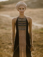 Load image into Gallery viewer, Tribal ethnic print strapless sleeveless dress