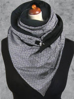 Load image into Gallery viewer, Bubble Print Cozy Button-Down Fluffy Scarf