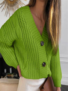 Women's Candy Color Short Knit Sweater Jacket