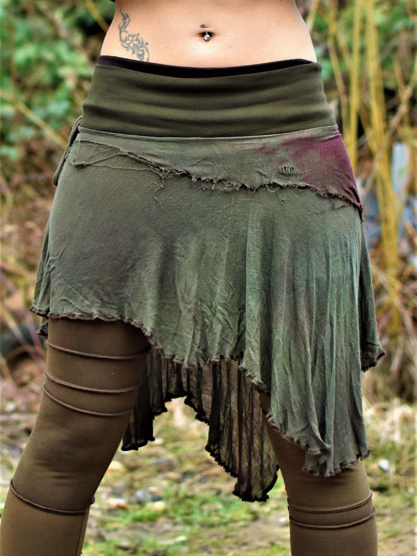 Women's Retro Irregular Hand-Dyed Skirt