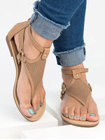 Load image into Gallery viewer, Women's open-toe flat sandals