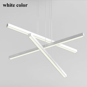 Modern DIY 3 Straight Aluminum Lights Dining Room Led Chandelier Luminaria Living Room Led Pendant Chandelier Lights Fixtures
