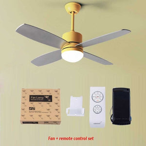 Mordern ceiling fan with light 42 inch home bedroom living room ceiling fan lamp Nordic pendant fan with remote control 220V