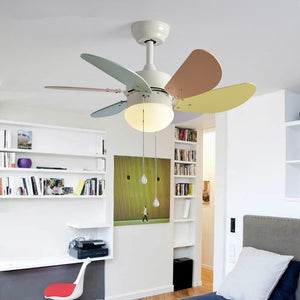 Nordic ceiling fan light Pure copper motor LED Chip 220v Forward and reverse function 2.4G RF Remote Control  Pull switch