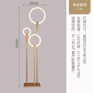 Wooden floor lamp Nordic LED living room standing lamp modern acrylic home lighting wooden decoration device bedroom floor lamp