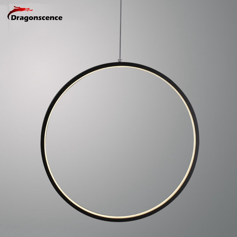 Dragonscence Modern LED Chandelier Lights round ring Circle Pendant Lamp Home  For Living Room Lighting Indoor  Fixture