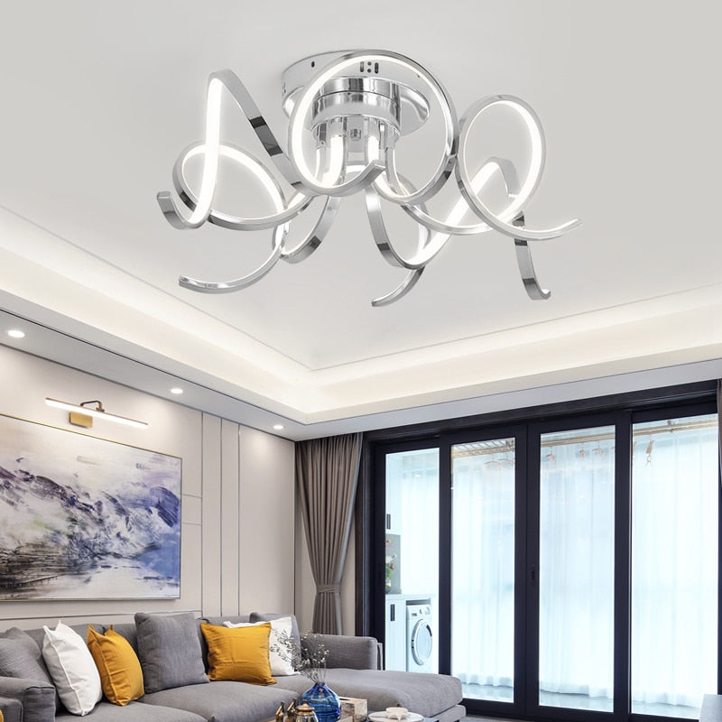 Chrome/Gold Plated led Chandelier 90-260V Modern Home Chandelier Lighting Fixtures for living room bedroom study room