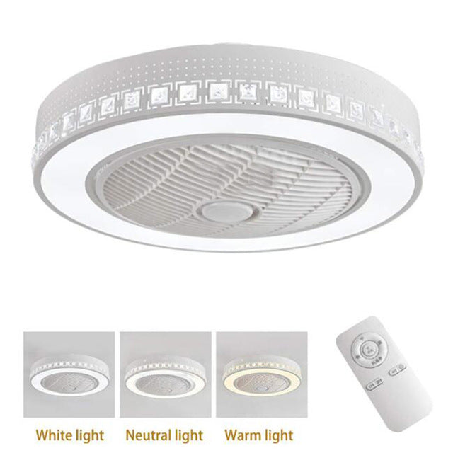 55cm led ceiling fan with light APP Smart wifi remote control lamp Fans bedroom modern children home restaurant 40w three color