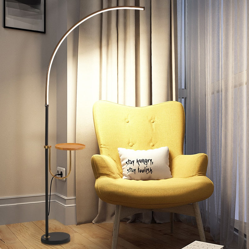 Nordic Minimalist LED Floor Lamps Standing Lamps Living Room Led Black/White Aluminum Luminaria Standing Lamps Lamparas Decorate
