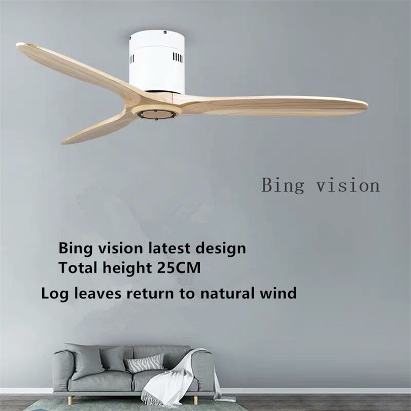 Latest Wooden Ceiling Fan Wood with Remote Control Ceiling Fans Without Light Retro Fan Energy Saving Ventilador De Techo
