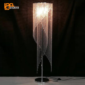 modern design crystal floor lamps for living room floor standing light 100% guarantee