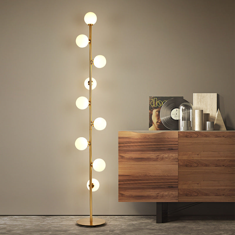 Modern LED living room standing lamp bedside lights home deco lighting Glass ball fixtures Nordic bedroom floor lamps