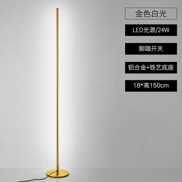 Nordic Minimalist LED Floor Lamps Creative Stand Lamps for Living Room Led Black Metal Luminaria Standing Lamp Lampara Fixtures