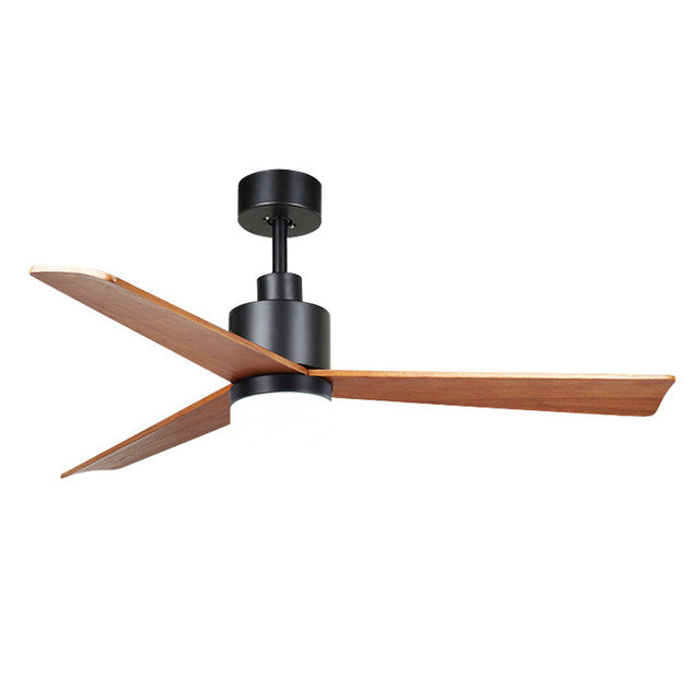 Stylish European Simple 52 Inch Remote Control Wood Blades Ceiling Fan Without Light 110V 220V Classic