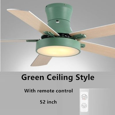 Nordic LED Ceiling Fan Light  For Living Room Home LED Dimming Light With Remote Control AC220V Ceiling Fan Lamp ABS Fan Leaf