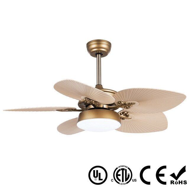 "Modern 48"" for 5 ABS Leaf Blade Smart Ceiling Fan with Light  LED 18W  Remote Control Art Free Shipping 3 Speed 120V"