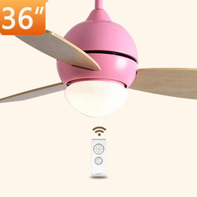 36 inch Fan Light Macaron Ceiling Fan Lamp with Remote Control Nordic Pendant Fans AC Multi Color for Restaurant Kid's Room