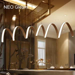 NEO Gleam L800/1000/1200mm Modern aluminum LED Chandelier light for dinning room bar study room hanging chandelier lamp 85-265V