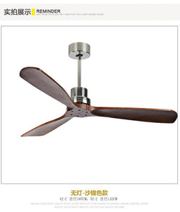42/52 Inch Nordic Industrial Ceiling Fan Wood Without Light Creative Bedroom Dining Room Wooden Ceiling Fans Free Shipping