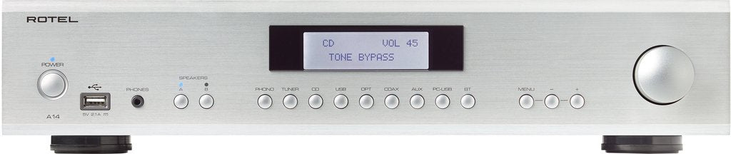 Rotel A-14, Integrated Amplifier,  Silver