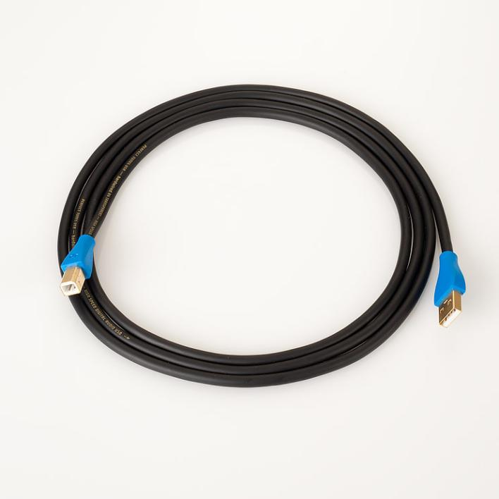Hardwired by Transparent USB A>B Cable 20 Inches
