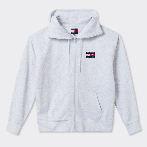 TOMMY JEANS - TJ Street Archives Zip Thru 8 Silver Grey Heather