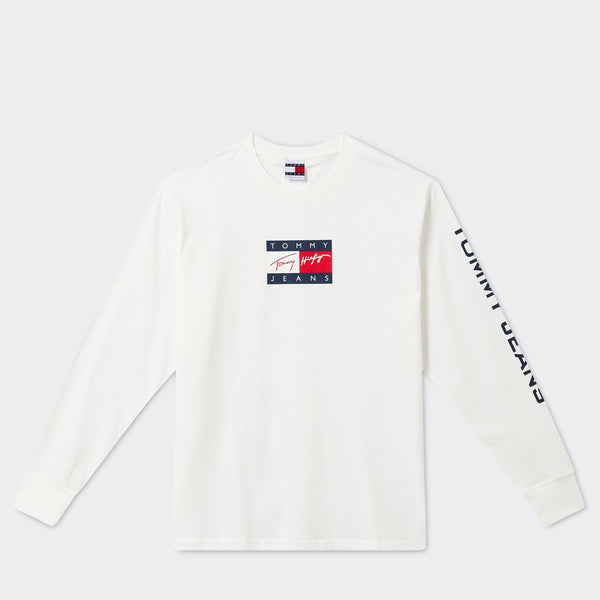 TOMMY JEANS - TJ Street Archives Long Sleeve Tee 9 Ecru